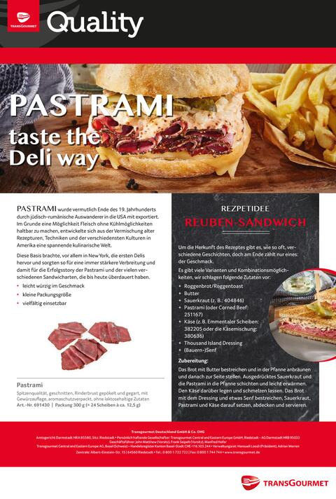 Transgourmet Quality Pastrami